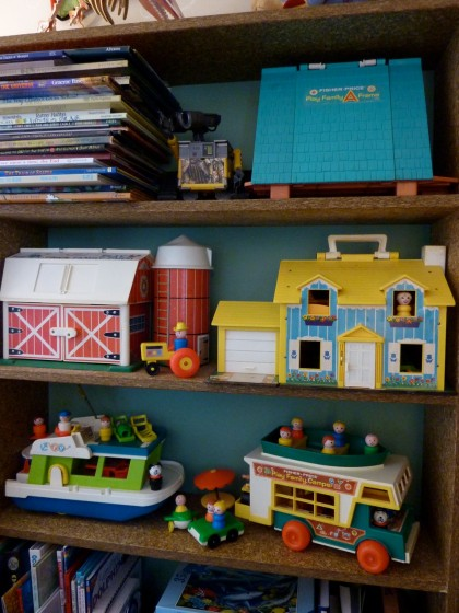 "vintage Fisher Price ""little people"" toy collection"