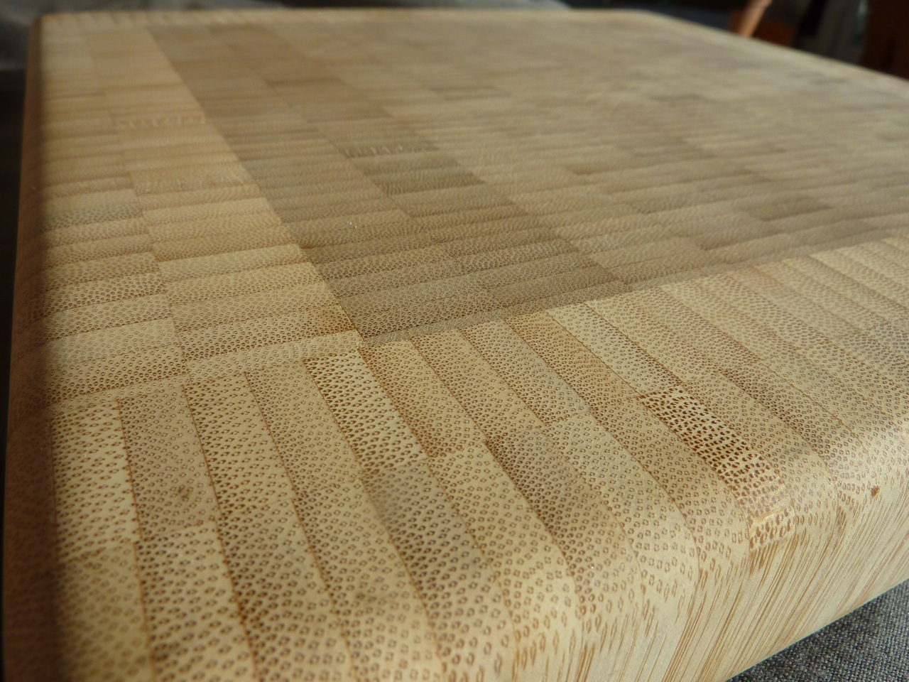 end-grain bamboo cutting board