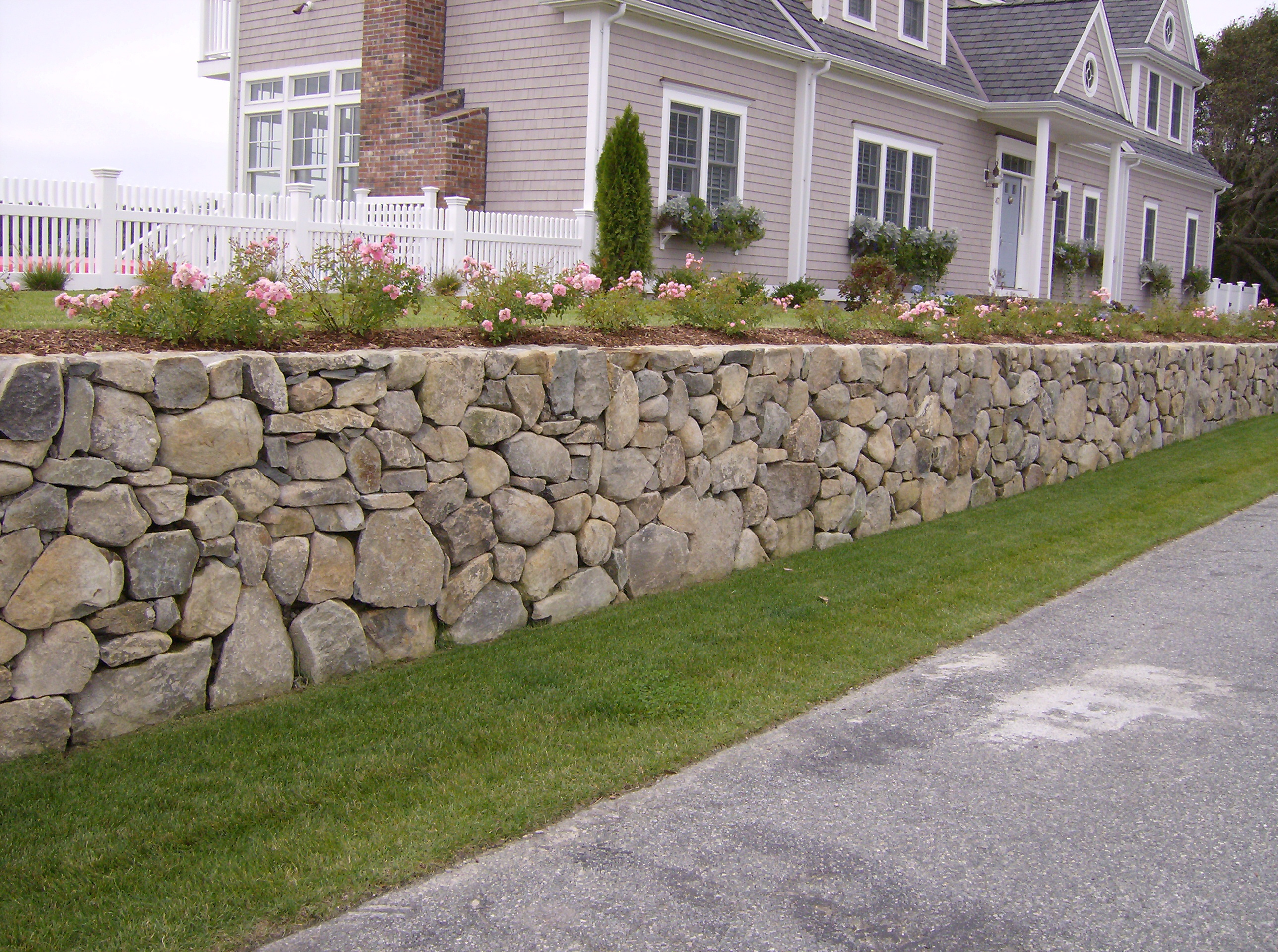 Traditional Stone Wall Earthandstonecapecod Com