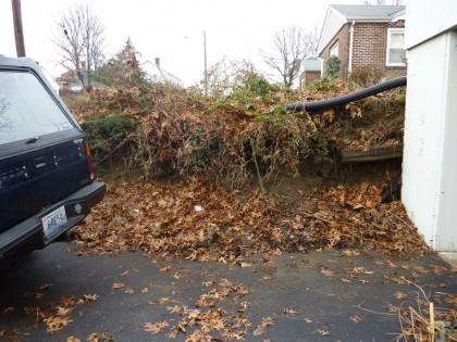 subsiding driveway slope 1