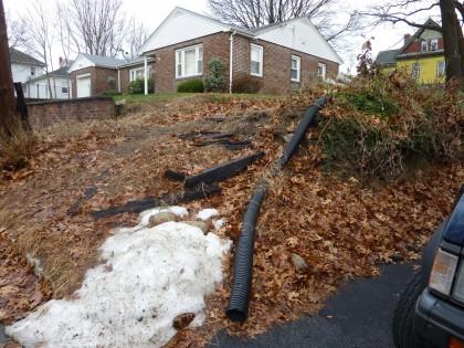 subsiding driveway slope 3