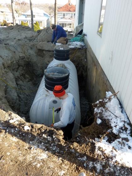 plumbing the tank