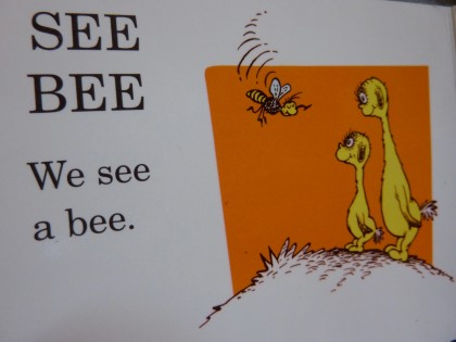 we see a bee | from hop on pop