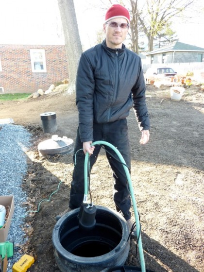 david installing pump