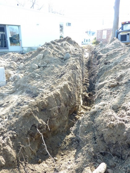 overflow trench gets dug