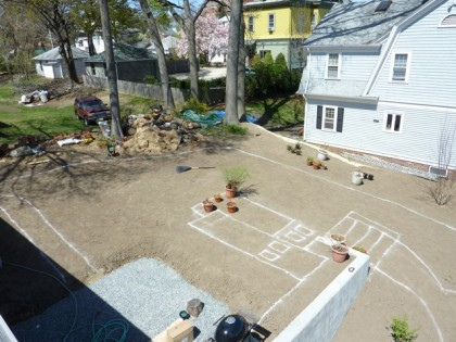 view of yard from the roof | top of yard