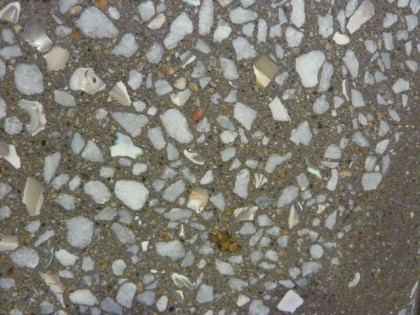 concrete terrazzo closeup