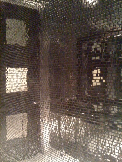 disco wall in the bathroom at Blush