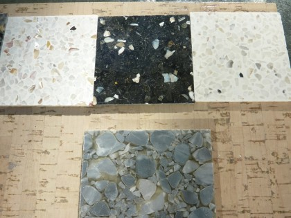 terrazzo possibilities against our cork floor choice