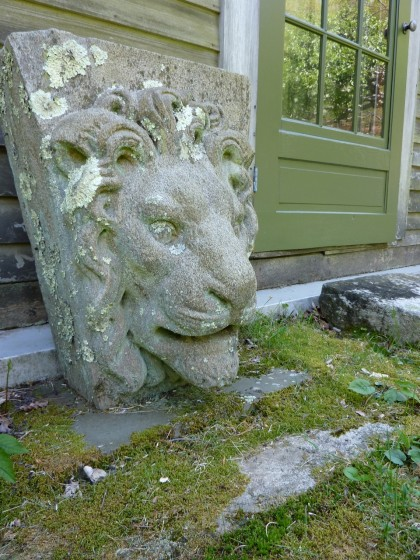 concrete lion
