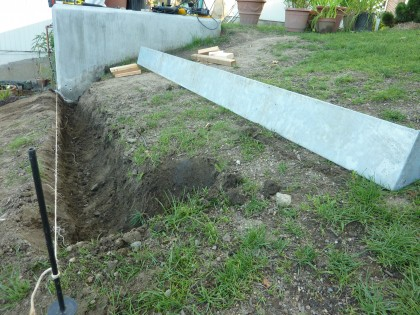 first riser dug for stairs