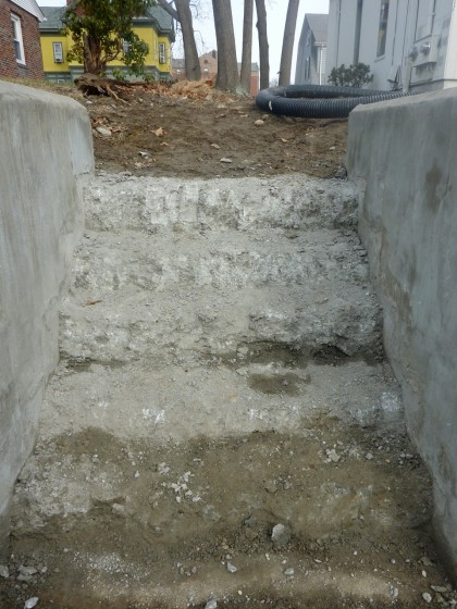 concrete stair disaster