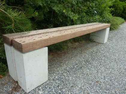 another bench at berkshire botanical garden, same designer
