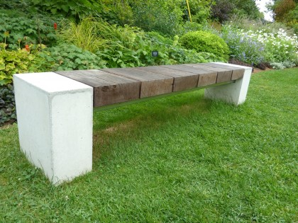baseball bench at berkshire botanical garden