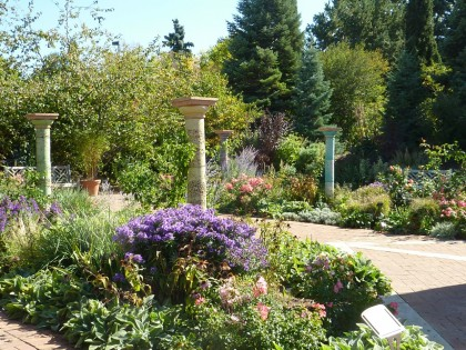 pedestals and perennials