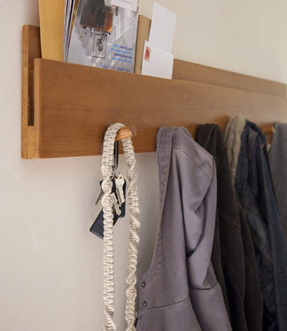 douglas fir Muir wall coatrack | amenityhome.com