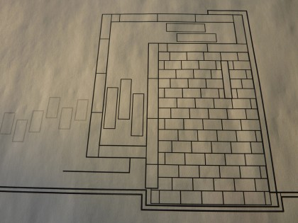 the original plan for the koi pond