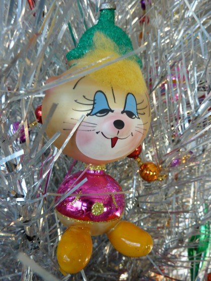 holiday italian glass dopey cat