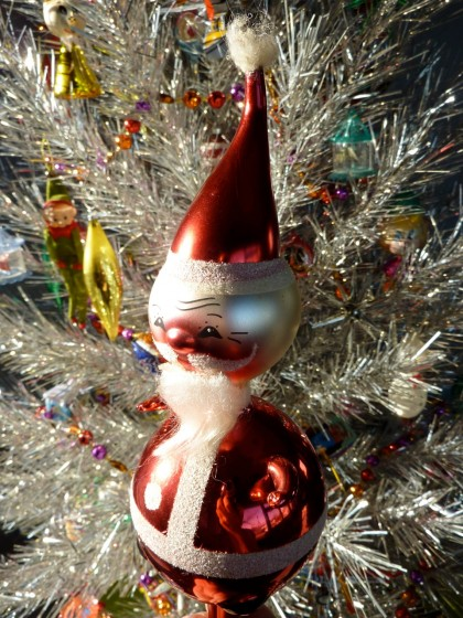 holiday italian glass santa tree topper