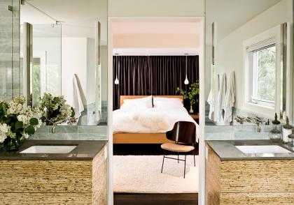 vanity cabinets by jessica helgrson | kireiusa.com