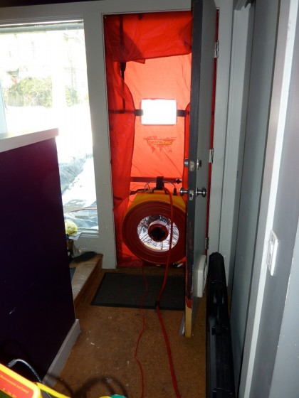 blower test fan in place