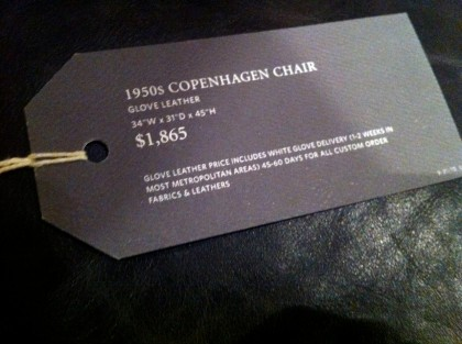 chair tag