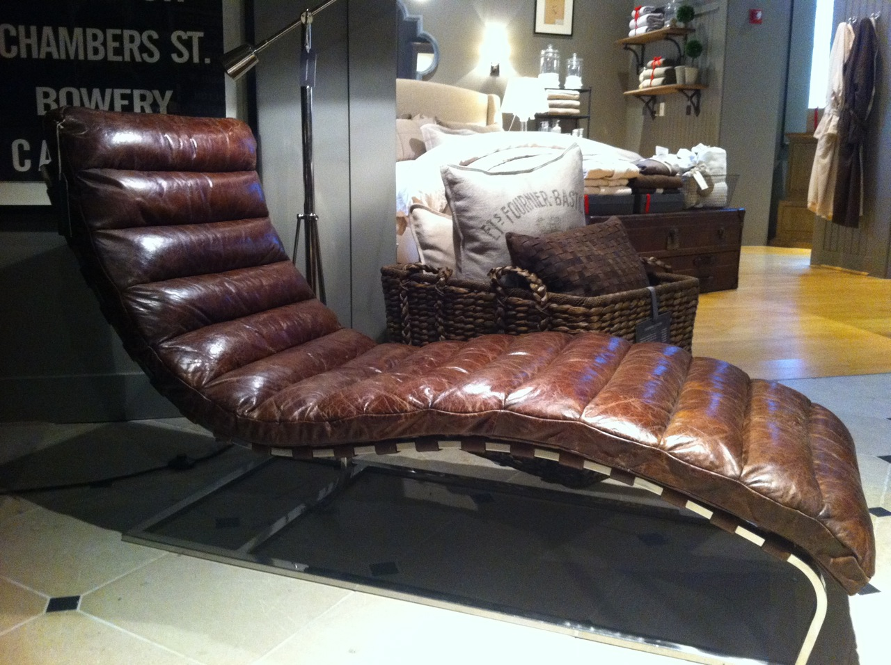 Superbe Oviedo Chaise Lounge Spotted At Restoration Hardware
