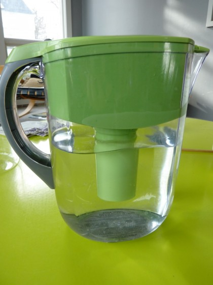 a pitcher of water