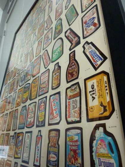 wacky packages uncut sheet, framed