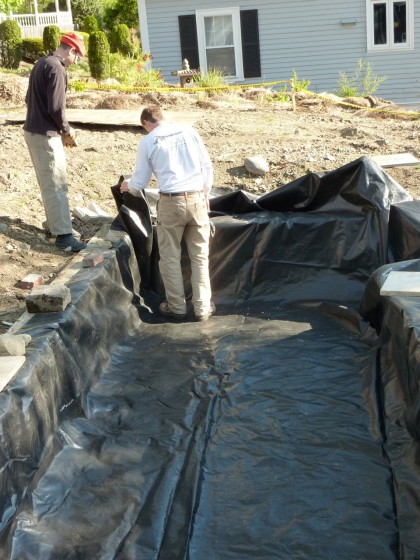 a base of GeoTex geotextile fabric