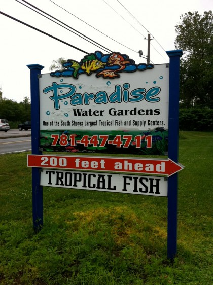 paradise water gardens sign