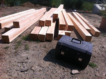 cedar fence posts