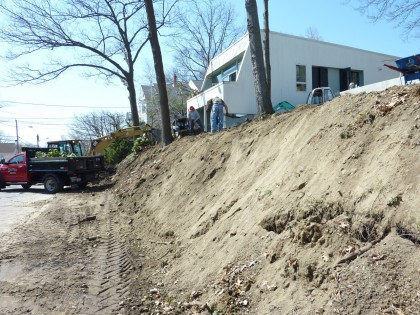 hillside: april 3, 2010 reshaped with new soil