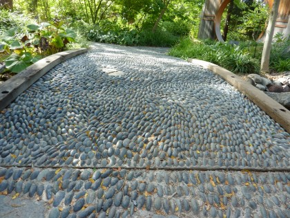 pebble walkway in the asian garden | shot at denver botanic garden