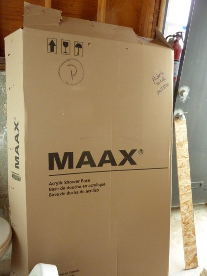shower pan by Maax