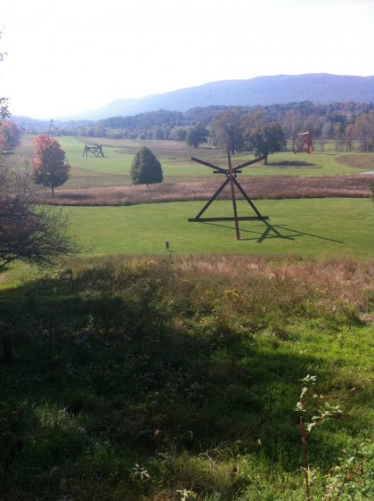 storm king | south field with mark di suvero sculptures and bix
