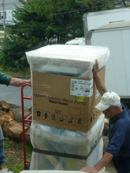 the new hybrid water heater arrives