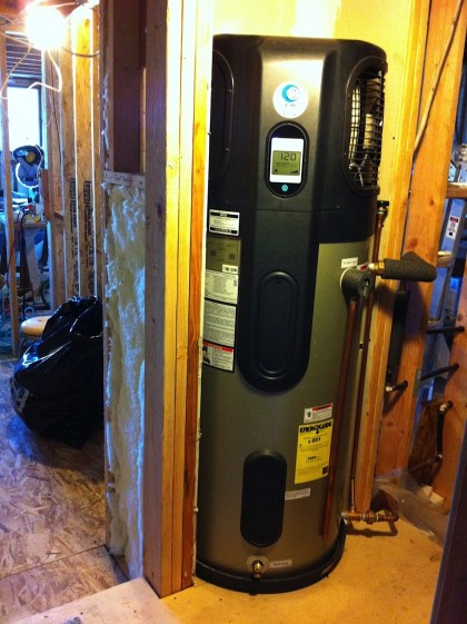 water heater in place