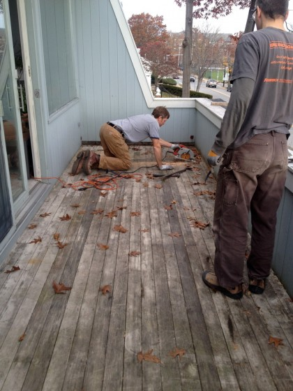 deck | sawing