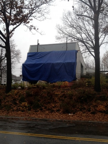 tarp from across street