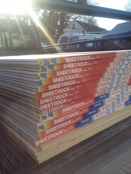 more sheetrock arrives