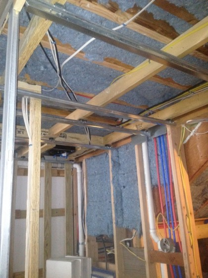insulation in the bathroom ceiling
