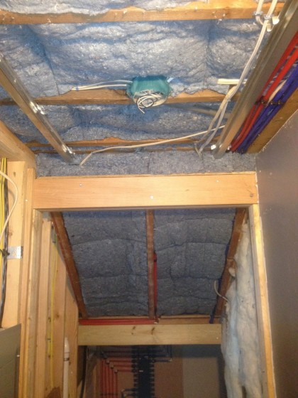 insulation under the stairs
