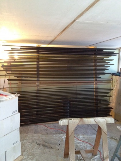 siding on the drying rack