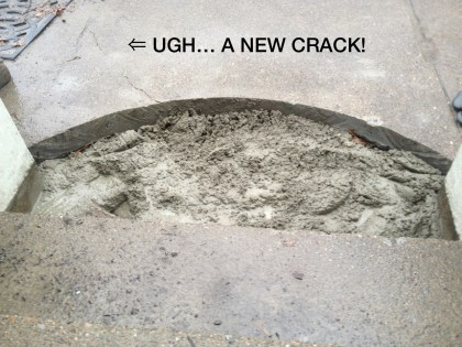 ugh, a new crack!