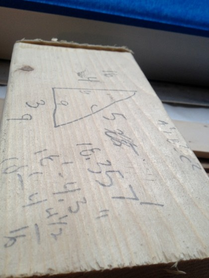 math on wood scrap