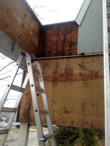 soggy siding