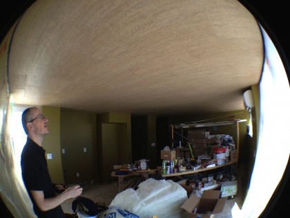 ceiling is corked, yay!