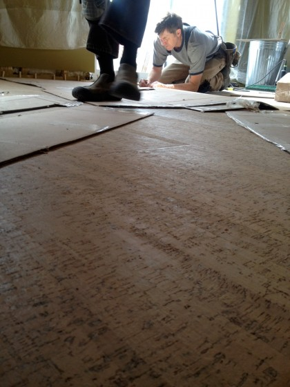 floor in progress