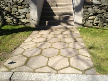 geometric walkway